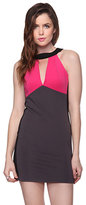 Colorblocked Halter Dress
