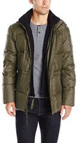 Andrew Marc Men's Blizzard Down Parka with Fleece Bib