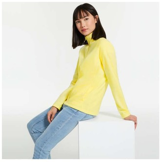Joe Fresh Women's Mock Neck Jacket, Bright Yellow (Size XL)