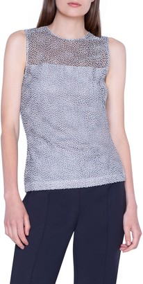 Akris Dot Lace Illusion Shell