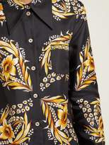 b5961a1569a1d Gucci Floral Print Silk Twill Shirt - Womens - Black Gold. All   Women    Clothing   Tops   Longsleeve
