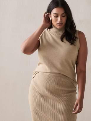 Sleeveless Turtleneck Sweater - Addition Elle