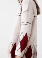 MANGO Rhombus Design Cardigan