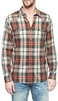 True Religion Men's Long Sleeve Western Shirt