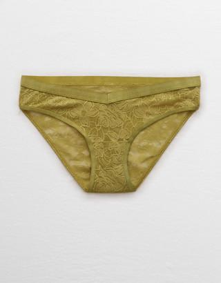aerie Mesh Palm Lace Bikini Underwear
