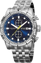 Akribos XXIV Extremis Mens Blue Dial and Silver-Tone Stainless Steel Watch