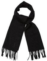 Saint Laurent Pure New Wool Fringe Scarf