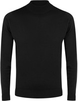 John Smedley Harcourt Black Wool Jumper