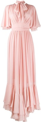 Giambattista Valli Tie Neck Silk Dress
