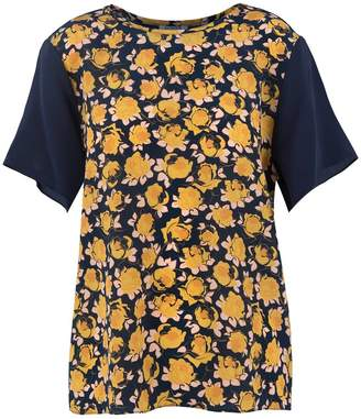 Somerville . Prairie Silk Tee With Mixed Floral Prints