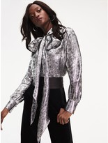 Tommy Hilfiger Zendaya Metallic Silk Blend Blouse