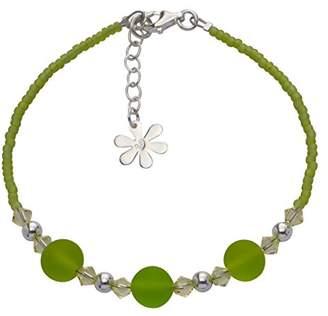 Swarovski Amanti Venezia Sterling Silver Lime Bead and Bracelet of Length 18-21 cm