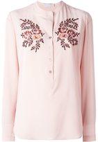 Stella McCartney 'Eva' embroidered crepe shirt