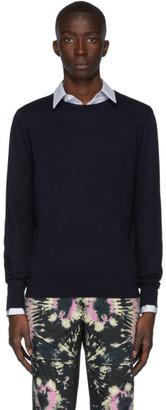 Dries Van Noten Navy Merino Sweater