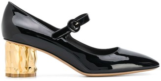 Salvatore Ferragamo Mary Jane block heel pumps