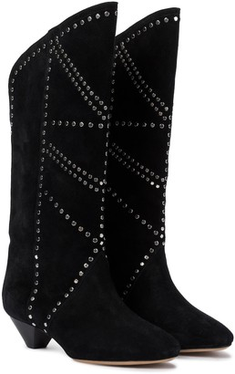 Isabel Marant Darka studded suede boots