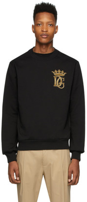 Dolce & Gabbana Black Embroidered Logo Sweatshirt