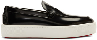 Christian Louboutin Black and White Paqueboat Loafers