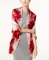 Calvin Klein Satin-Border Scarf & Wrap in One