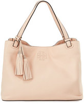 Tory Burch Thea Center-Zip Tote Bag w/ Tassels, Sweet Melon