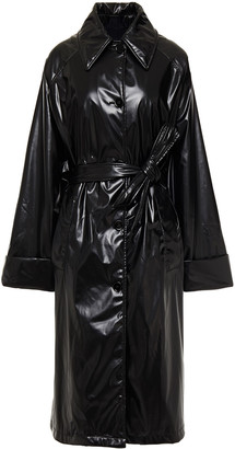 MM6 MAISON MARGIELA Oversized Vinyl Trench Coat