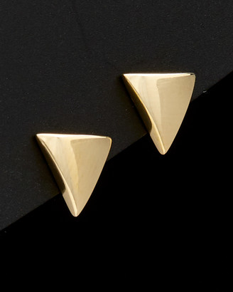 Italian Gold 14K Triangle Studs