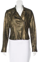 Catherine Malandrino Leather Moto Jacket