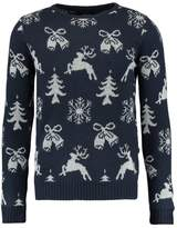 Solid Snowflake Jumper Insignia Blue