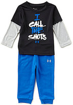 Under Armour Baby Boys 12-24 Months I Call The Shots Long-Sleeve Tee & Pants Set
