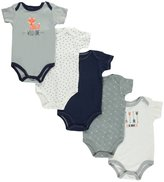 "Hudson Baby Baby Boys' ""Wild One"" 5-Pack Bodysuits"