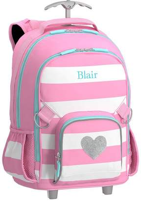 Pottery Barn Kids Fairfax Pink/White Stripe Lunch Bag