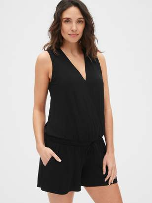 Gap Maternity Sleeveless Knit Wrap-Front Romper