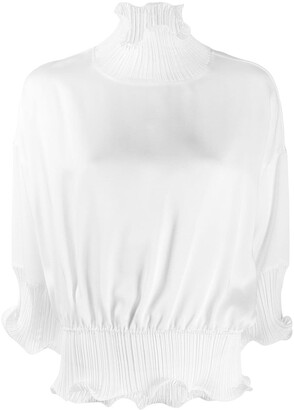 Givenchy Frilled High-Neck Blouse