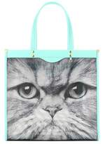 Anya Hindmarch Kitsch Cat mesh and leather tote