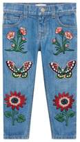 Gucci Children's felted cotton jersey slim pant