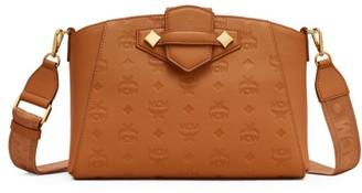 MCM Essential Monogram Leather Crossbody Bag