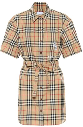 Burberry Vintage Check cotton minidress