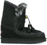 Mou 'Dream Catcher Eskimo' boots - women - Cotton/Rabbit Fur/Suede/rubber - 36
