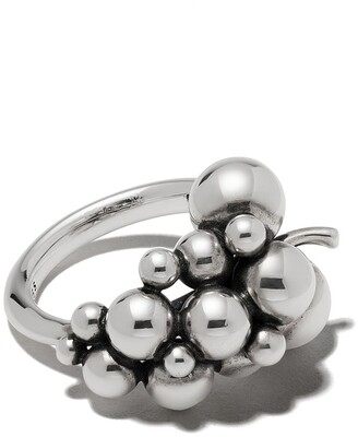 Georg Jensen small oxidised sterling silver Moonlight Grapes ring