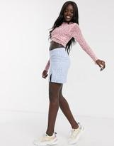 Daisy Street mini skirt in ditsy floral