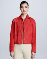 Ralph Lauren Black Label Luxury Suede Jacket, Coral
