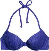 H&M Padded Underwire Bikini Top - Dark blue - Ladies