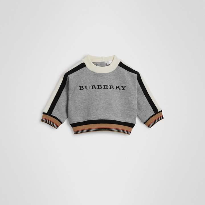 Burberry Childrens Embroidered Logo Cotton Sweatshirt