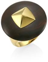 Voyageur 18K Yellow Gold & Wood Disc Ring