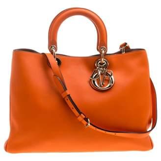 Christian Dior Diorissimo Orange Leather Handbags