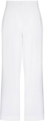 ASCENO High-Waist Linen Trousers