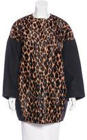 Longchamp Leopard Print Short Coat