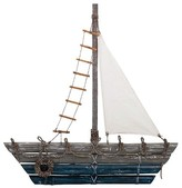 Aurora Sailboat Decorative Wall Sculpture - Grey/Blue