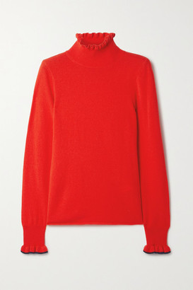 See by Chloe Ruffled Wool-blend Turtleneck Sweater - Tomato red