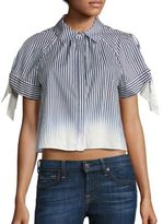Milly Ombre Striped Tie Sleeve Top